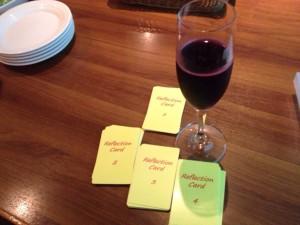 ワインを飲みながらリフレクション!